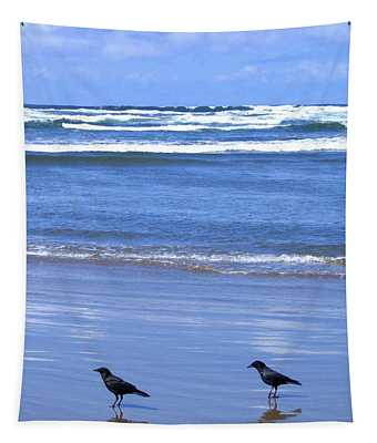 Companion Crows Tapestry