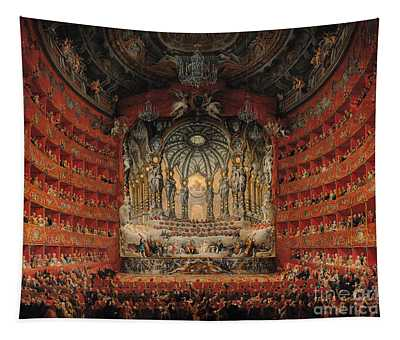 Concert Given By Cardinal De La Rochefoucauld At The Argentina Theatre In Rome Tapestry