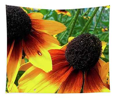 Tapestry featuring the photograph Coneflowers by Robert Knight