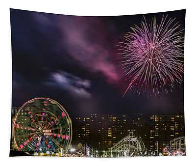 Coney Island Fireworks Tapestry