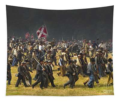 Confederate Charge At Gettysburg Tapestry