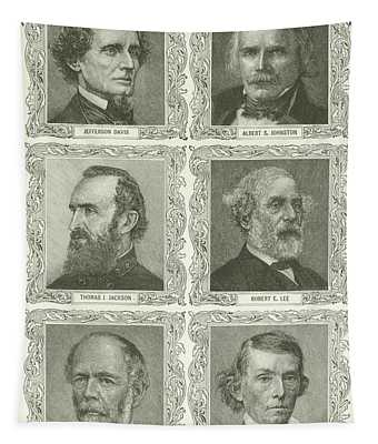 Confederate Leaders Tapestry