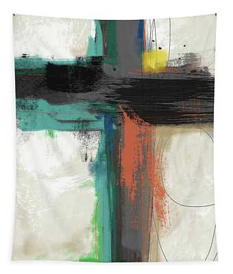 Contemporary Cross 2- Art By Linda Woods Tapestry