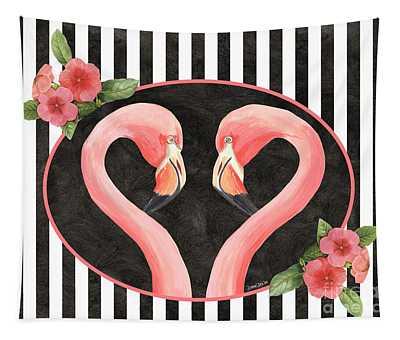 Contemporary Flamingos 1 Tapestry