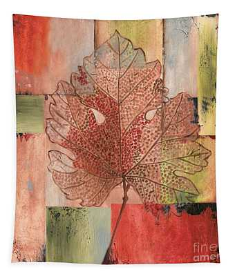 Contemporary Grape Leaf Tapestry