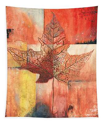 Contemporary Leaf 2 Tapestry