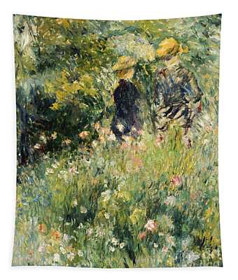 Conversation In A Rose Garden Tapestry