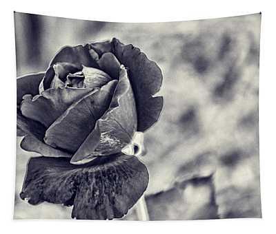 Cool Black Rose Tapestry