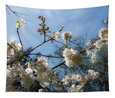 Cool Cherry Blossoms Tapestry