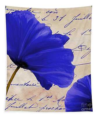 Coquelicots Bleue II Tapestry