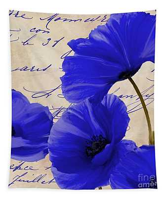 Coquelicots Bleue Tapestry