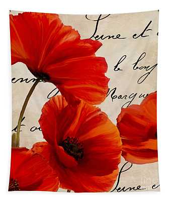 Coquelicots Rouge I Tapestry