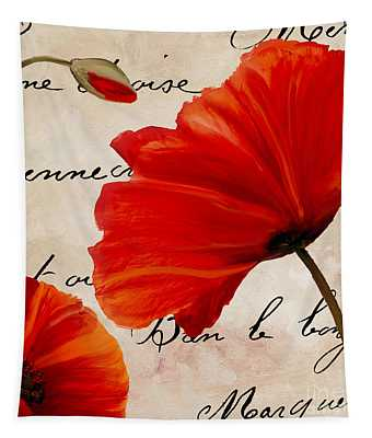 Coquelicots Rouge II Tapestry