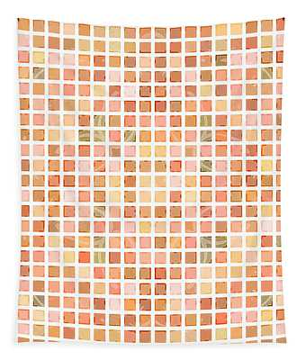 Tapestry featuring the digital art Coral Ocean Tiles by Joy McKenzie