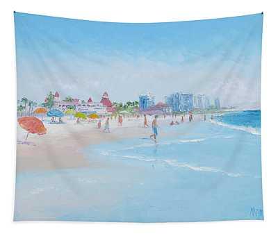Coronado Beach San Diego Tapestry