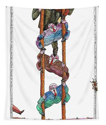 Corporate Ladder And Career Tapestry