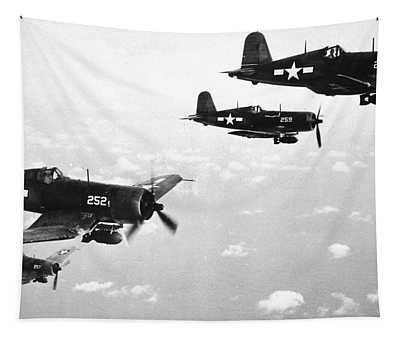 Corsair Planes  Us Airforce Tapestry