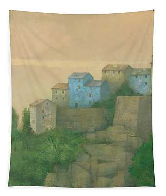 Corsican Hill Top Village Tapestry