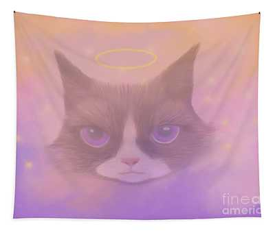Cosmic Cat Tapestry