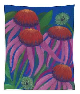 Cosmic Coneflowers Tapestry