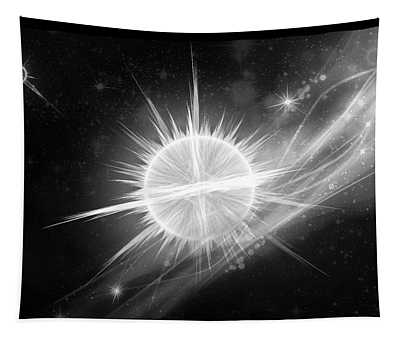 Cosmic Icestream Bw Tapestry