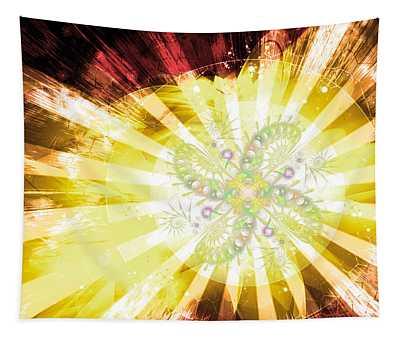 Cosmic Solar Flower Fern Flare 2 Tapestry