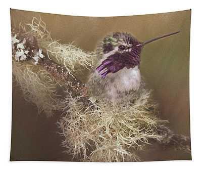 Costas Hummingbird Painted Tapestry