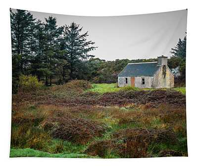 Cottage In The Irish Countryside Tapestry