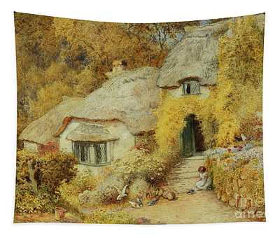 Cottages At Selworthy, Somerset Tapestry