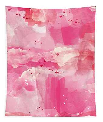 Cotton Candy Clouds- Abstract Watercolor Tapestry
