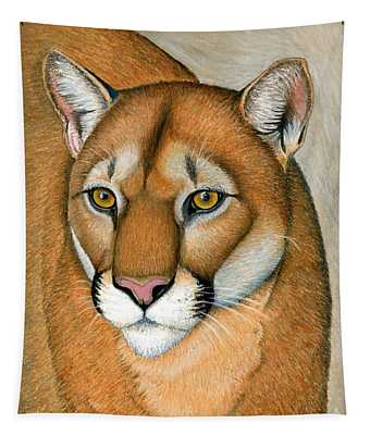 Cougar Portrait Tapestry