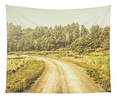 Countryside Road In Outback Australia Tapestry