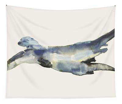 Courting Otters  Tapestry