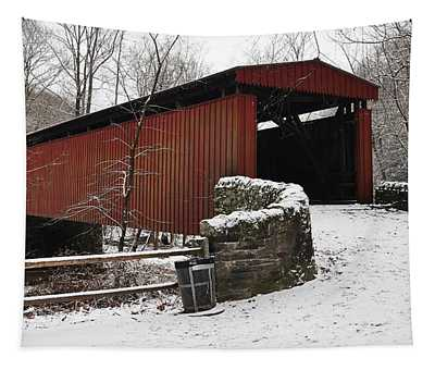 Covered Bridge Over The Wissahickon Creek Tapestry