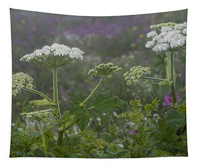 Cow Parsnip In The Mist Tapestry