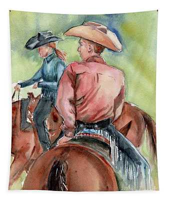 Cowboy, Looking Back Tapestry