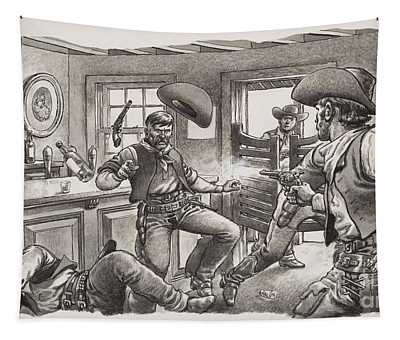 Cowboys Of Oregon  Tapestry