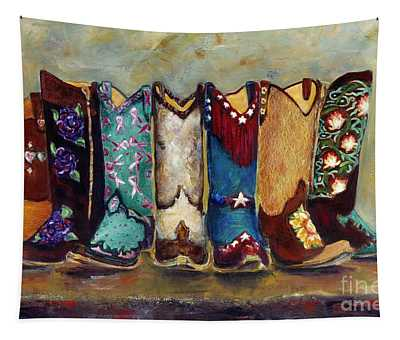 Cowgirls Kickin The Blues Tapestry
