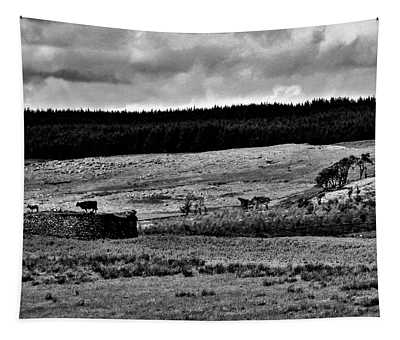 Cows On A Wall Tapestry