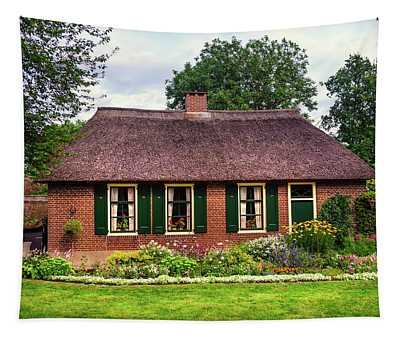 Cozy Cottage With Garden In Giethoorn. The Netherlands Tapestry