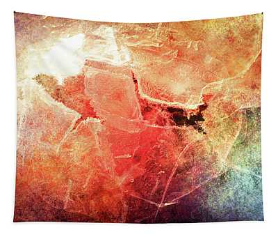 Cracks Of Colors Tapestry