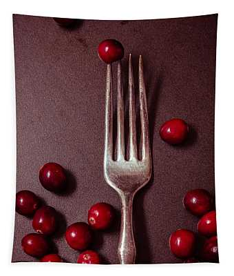Cranberries And Fork Tapestry