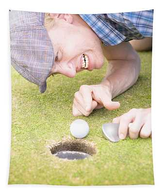 Crazy Golfer Tapestry