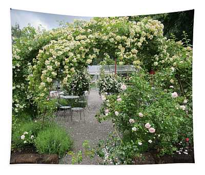 Cream-colored Roses With Your Coffee Tapestry