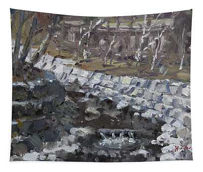 Creek In The Park Tapestry
