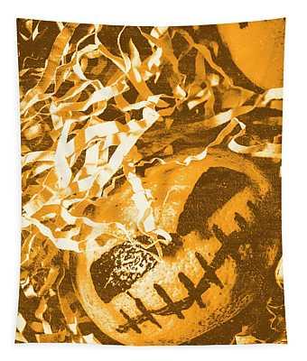 Creepy Vintage Pumpkin Head  Tapestry