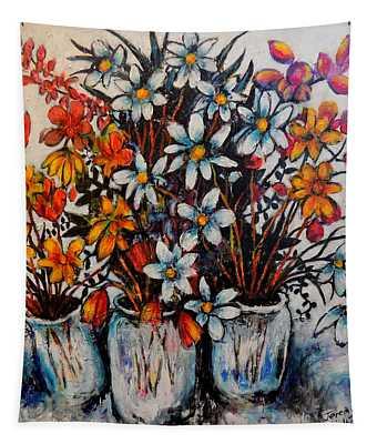 Crescendo Of Flowers Tapestry