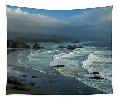 Crescent Beach And Surf Tapestry