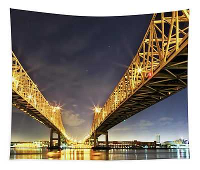 Crescent City Bridge In New Orleans Tapestry