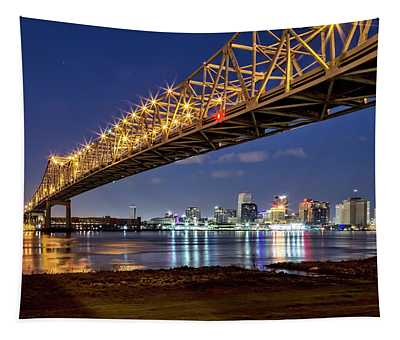 Crescent City Bridge, New Orleans Tapestry